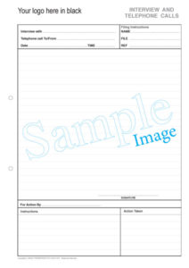 Telephone & Interview Pads