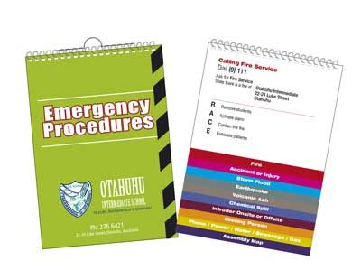 Emergency Procedures Flip Cards Printing West Auckland