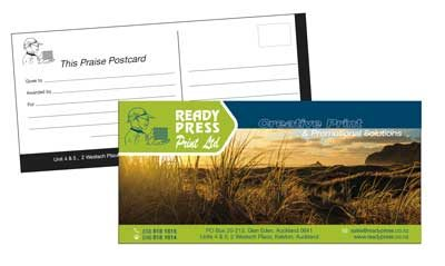 PRAISE POSTCARDS Printing West Auckland