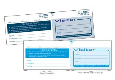 VISITOR PASS LABEL PADS Printing West Auckland