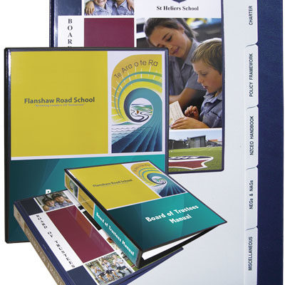 Board of Trustees Folders Printing West Auckland
