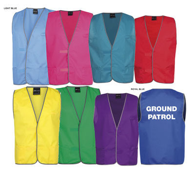 Coloured Vests Printing West Auckland