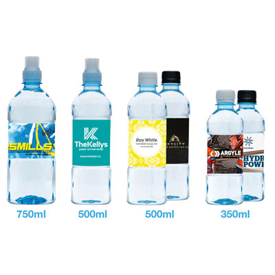 Customised Spring Water Bottles