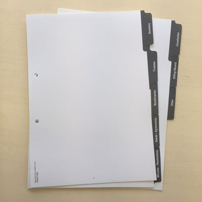 INDEX TABS Printing West Auckland